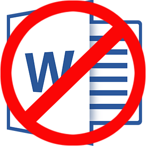No Word Docs Icon | LawnSigns.com
